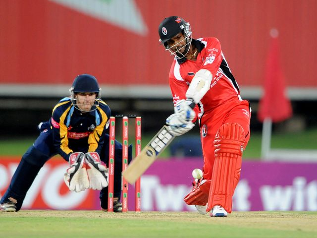 Denesh Ramdin in full flow for Trinidad & Tobago