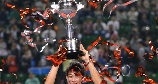 Kei Nishikori: saw off Milos Raonic in two hours and eight minutes
