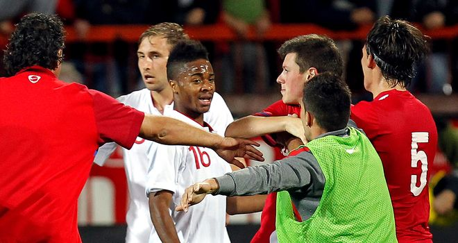 England and Serbia clashed at the end of their European U21 Championship play-off