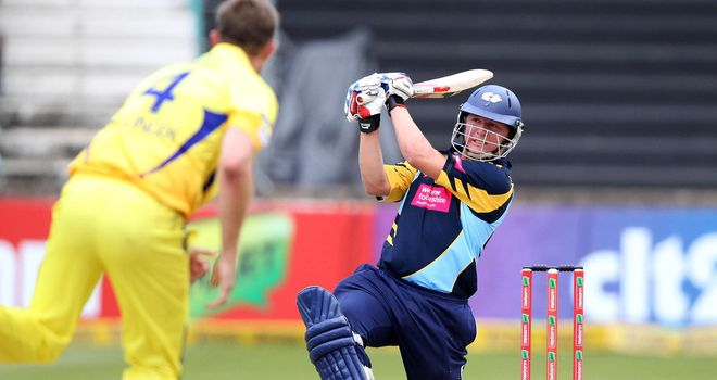 Gary Ballance: Yorkshire left-hander cleared the boundary five times in his 58