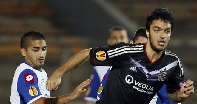 Adi Elisha: Battling for the ball with Clement Grenier