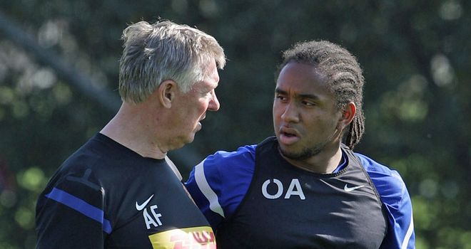 Anderson: The Brazilian is hoping to break into Sir Alex Ferguson's starting XI