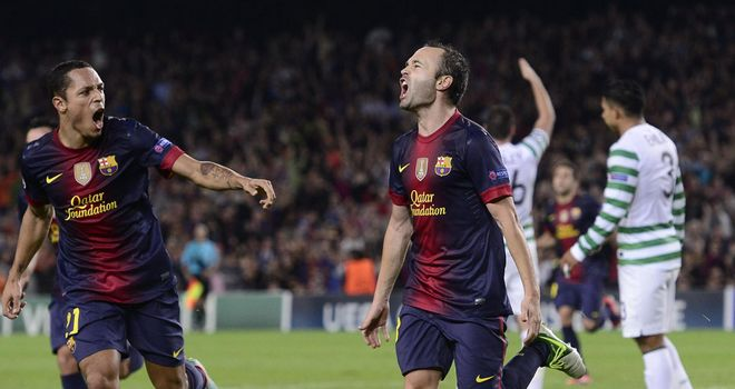 Andres Iniesta: Scored against Celtic on Tuesday to maintain Barcelona's 100 per cent record
