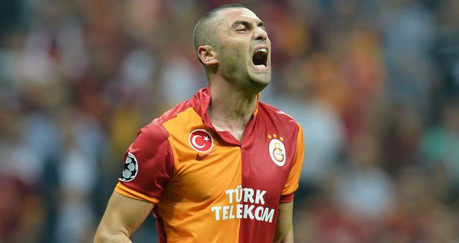 Burak Yilmaz: The striker has scored eight goals in this season's Champions League to sit level with Ronaldo