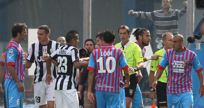 Tempers frayed after controversial decisions at Catania