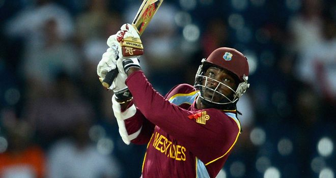 Gayle: scored 75 off just 41 balls