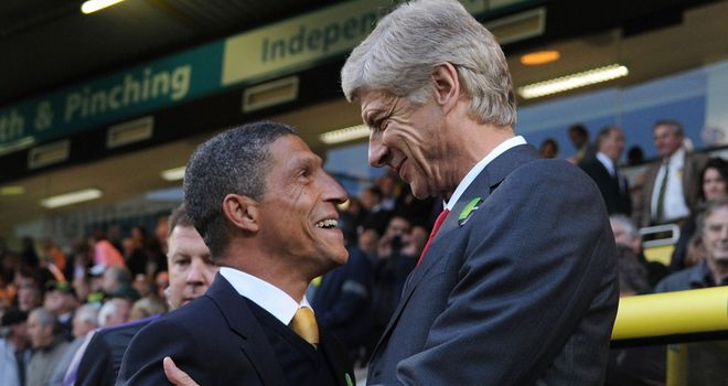 Arsene Wenger was not smiling at full-time after seeing his side lose at Norwich