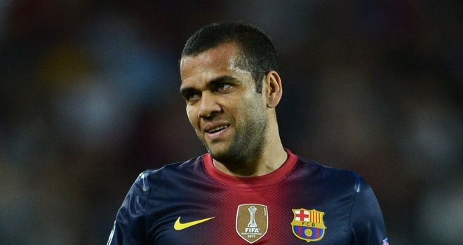 Dani Alves: The full-back looks likely to miss the Champions League tie against Celtic amongst other games