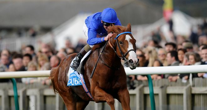 Dawn Approach: Made it six out of six for his career in the Dewhurst