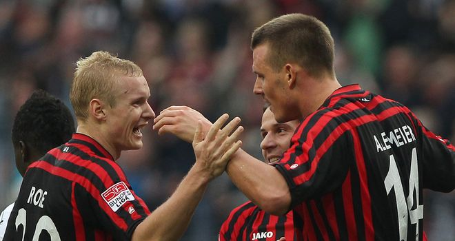 Frankfurt were in control early against Hannover