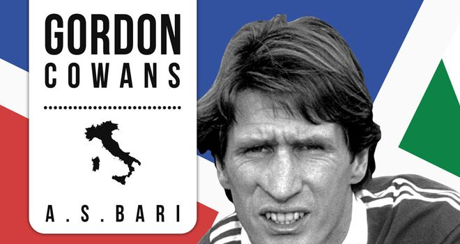 Gordon Cowans spent three seasons at Bari from 1985 to 1988