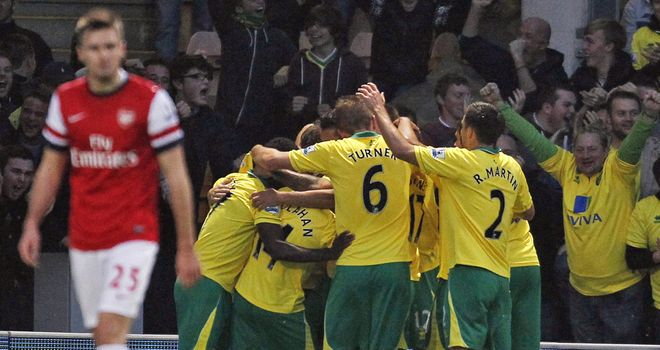 Norwich were the ones celebrating at Carrow Road on Saturday