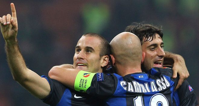 Rodrigo Palacio: On target as Inter drew 2-2 with Cagliari