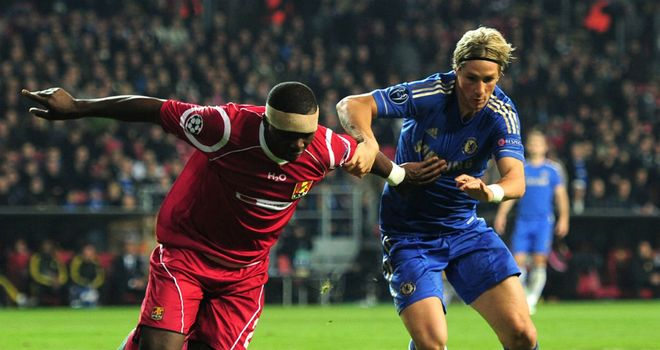 Jores Okore: The centre-back had a good game against Chelsea striker Fernando Torres
