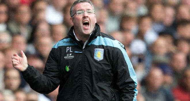 Paul Lambert: Has endured a shaky start to his reign as Villa boss