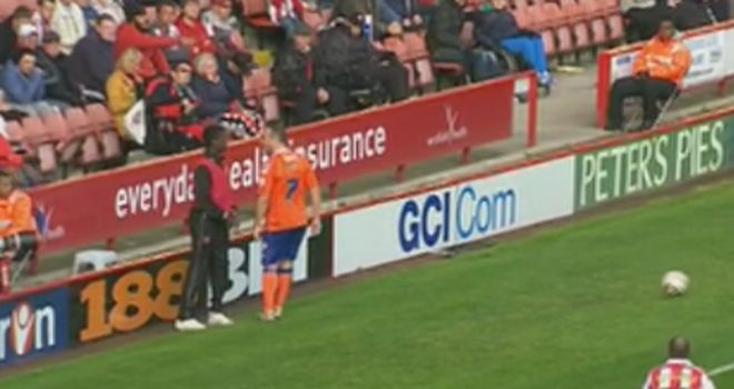 Lee Croft: Confronts ball boy