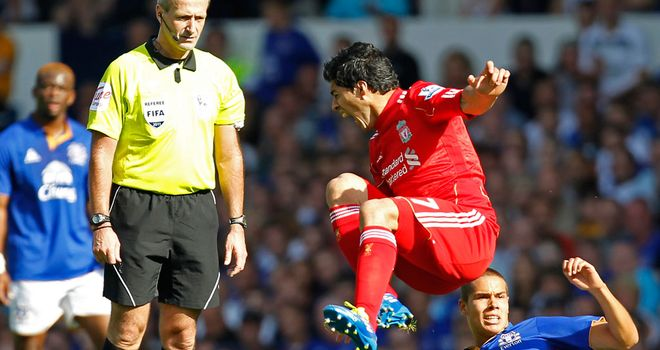 Luis Suarez: Accused of diving during last season's Derby
