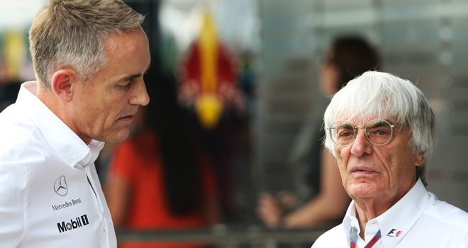 Martin Whitmarsh: Says cost control should focus on development spend