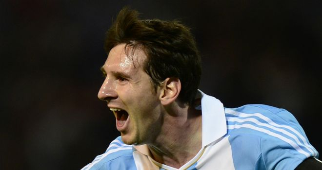 Lionel Messi: Two-goal hero for Argentina in the 3-0 win over Uruguay.