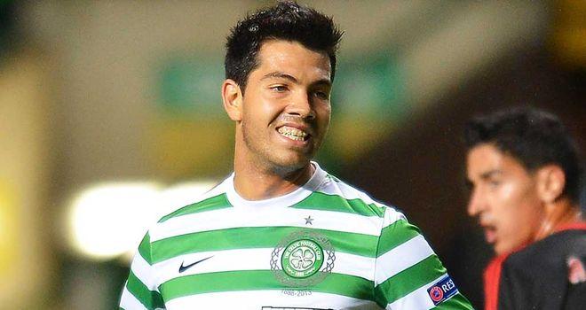 Miku: Striker has played a bit-part role so far this season for Celtic