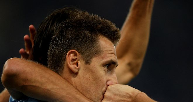 Klose was on target for the hosts