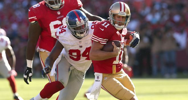 Mathias Kiwanuka: Giants pass rusher sacks 49ers quarterback Alex Smith