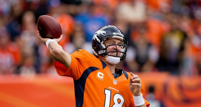 Peyton Manning: Threw for three touchdowns in Denver win