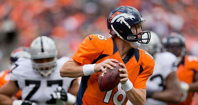 Peyton Manning: Threw three touchdown passes on Sunday as Denver crushed Oakland