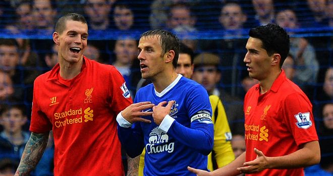 Phil Neville: Everton captain was satisfied with a point after the 2-2 draw with Liverpool