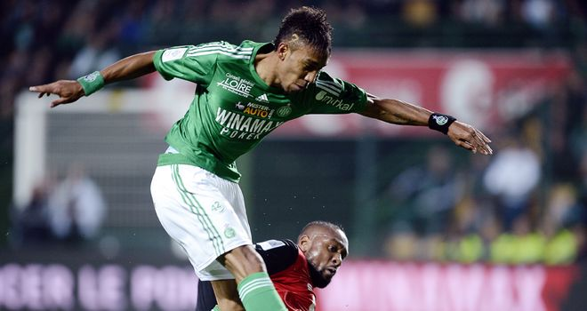 Pierre-Emerick Aubameyang: Among the goals as St Etienne made the last eight