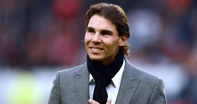 Rafael Nadal: At a recent football match in Paris