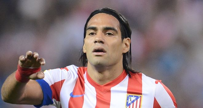 Radamel Falcao: Scored a last minute winner as Atletico Madrid won 1-0 at Real Sociedad