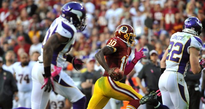 Robert Griffin III: Washington QB had 138 rushing yards on 13 carries