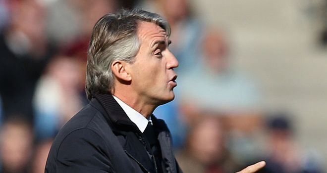 Roberto Mancini: Hoping City can close the gap on leaders Chelsea