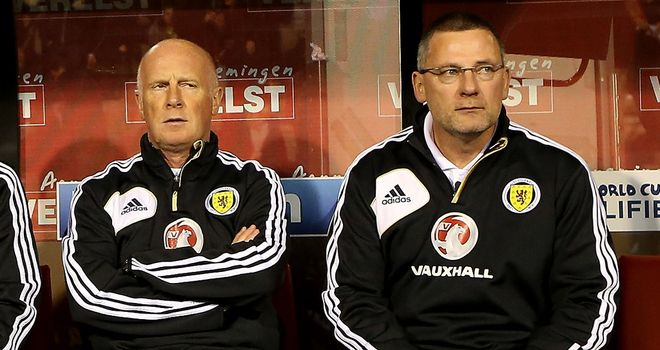 Peter Houston (left):  Has criticised the SFA over their handling of Scotland coach Craig Levein's future