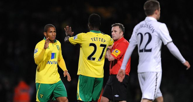 Tottenham were left shocked after Norwich's late turnaround at Carrow Road on Wednesday night