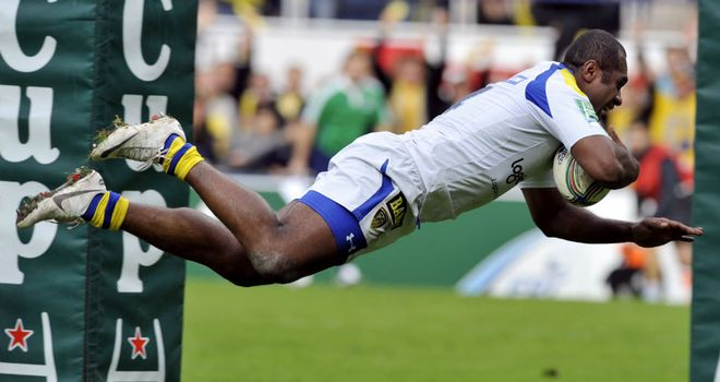 Sitiveni Sivivatu: Scored the first of Clermont Auvergne's six tries