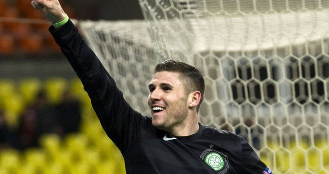 Gary Hooper: Put in an immense performance as Celtic won in Russia