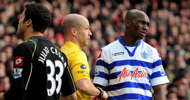 Stephane Mbia: Queens Park Rangers defender has said sorry after being sent off against Arsenal