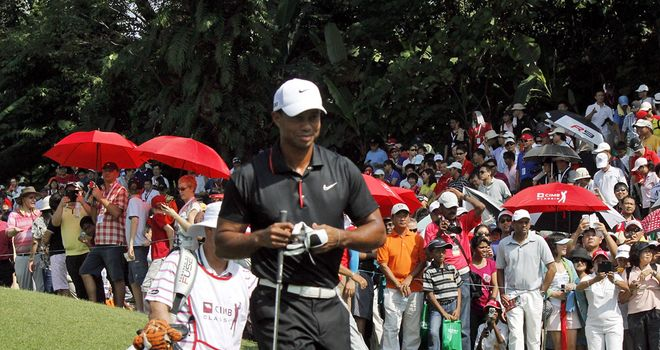 Tiger Woods: five shots back with two rounds to go