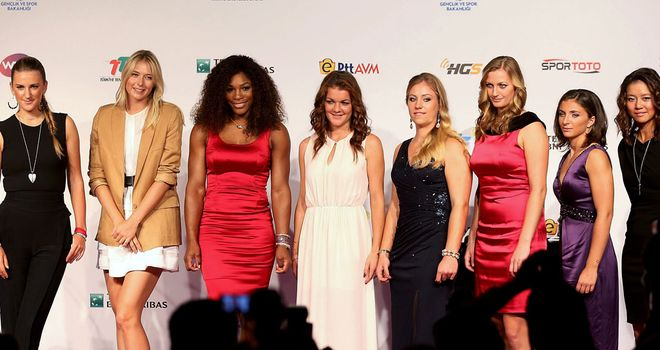 World's best line up ahead of the start of the WTA Championships in Istanbul