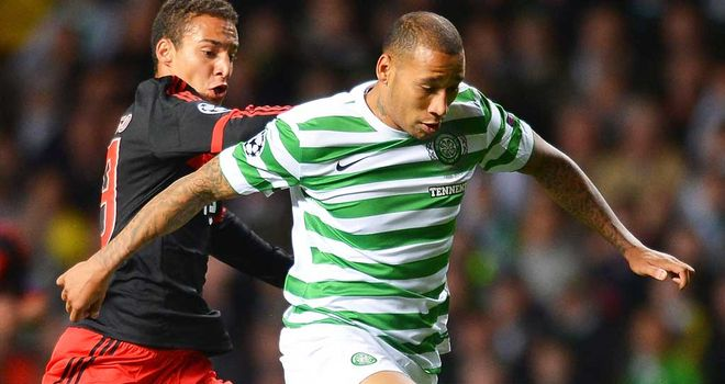 Kelvin Wilson (right) in action against Benfica
