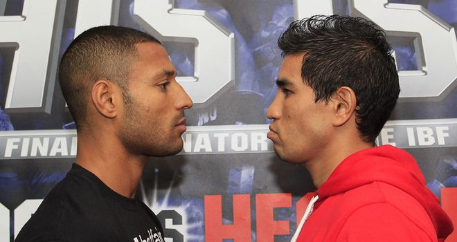Kell Brook comes face to face with Saturday's opponent for the first time