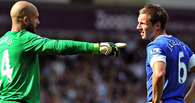 Tim Howard and Phil Jagielka: Ever present in the Premier League this season
