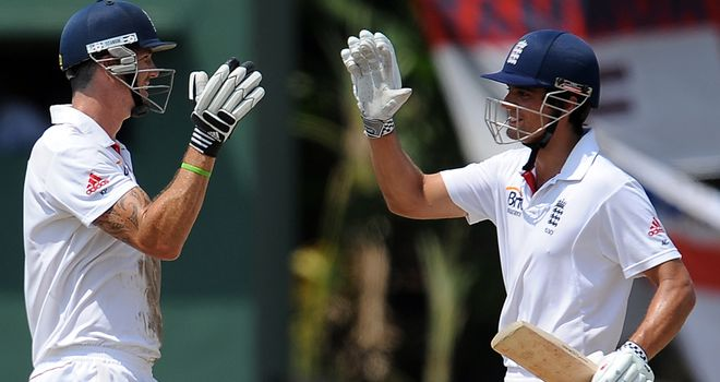 Alastair Cook (R): Delighted to have Kevin Pietersen (L) at his disposal