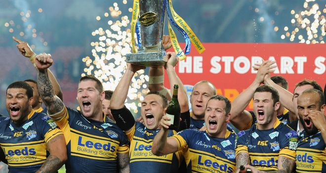 Leeds Rhinos celebrate victory in last season's Grand Final