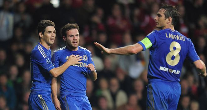 Juan Mata: Spain international scored twice in Chelsea's victory over Nordsjaelland