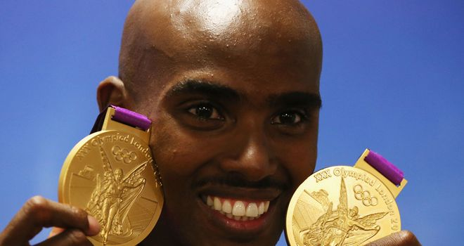 Mo Farah: Announces plans to run the first half of the London Marathon this April