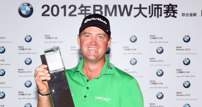 Peter Hanson: won by a shot in Shanghai