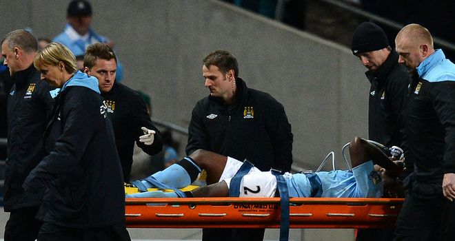 Micah Richards: Had to be stretchered off in the second half